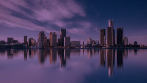 image of skyline sky and water